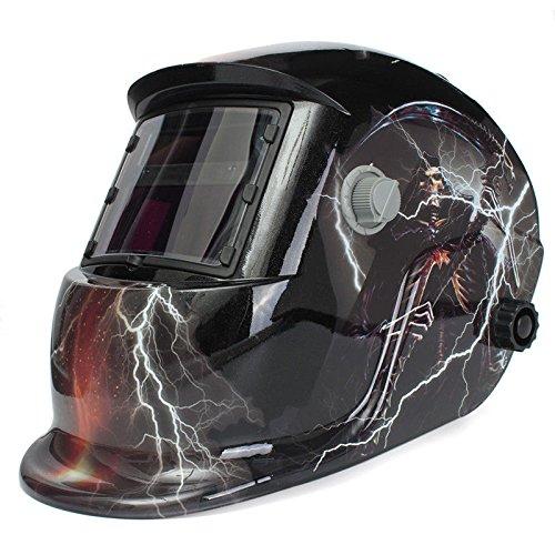 WALLER PAA Skull GhostLightning Pro Solar Welder Mask Helmet Auto-Darkening Welding MIG