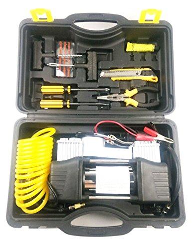 CUKKE 12V 150W 50Lmin Tire Inflator Pump Portable Air Compressor Car Parallel Inflatable Pump Vehicle Tools Set