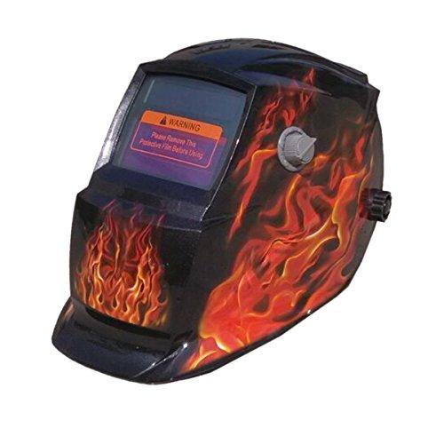 Valianto Fire Flames Auto-Darkening Solar Welder Mask Skull Welding Helmet HY-900HY