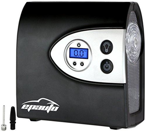 EPAuto 12V DC Auto Portable Air Compressor Pump w Digital Tire Inflator and Preset Pressure Shut Off Gauge for Compact  Midsize Sedan SUV