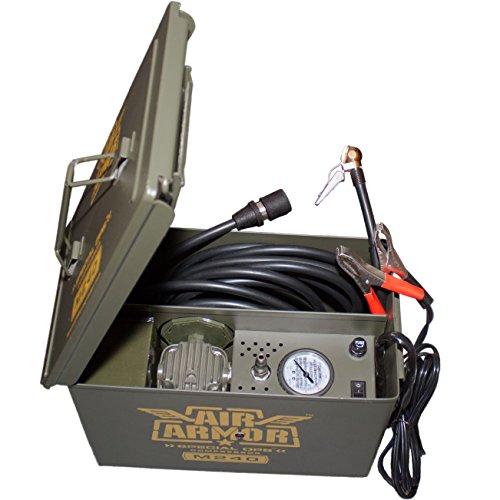 Air Armor M240 Portable 12-Volt Tactical Air Compressor Kit Tire Inflator
