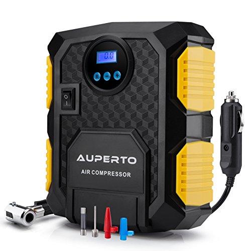 Digital Tire Inflator  AUPERTO Electric DC 12 Volt Car Portable Air Compressor Pump - 150 PSI