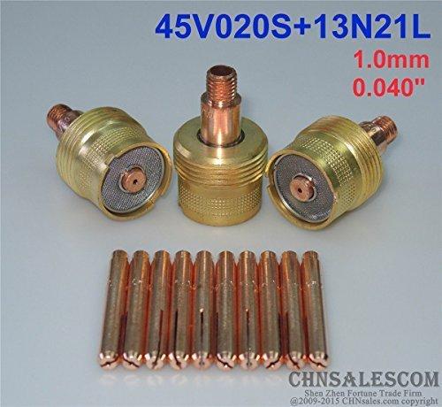CHNsalescom 13 pcs Large Gas Len Collet Body 45V020S Collets 13N21L WP-92025 10mm 0040