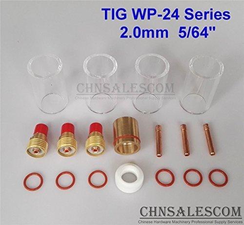 CHNsalescom 18 pcs TIG Welding Gas Len 12 42mm Pyrex Glass Cup Kit WP-24 Series 20mm 564