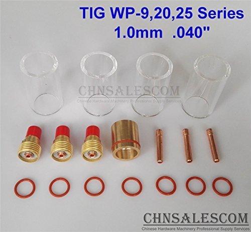 CHNsalescom 18 pcs TIG Welding Gas Len 12 42mm Pyrex Glass Cup Kit WP-92025 10mm 040