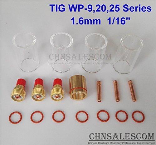 CHNsalescom 18 pcs TIG Welding Gas Len 12 42mm Pyrex Glass Cup Kit WP-92025 16mm 116