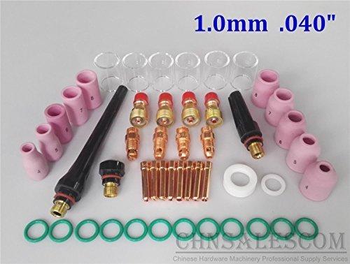 CHNsalescom 49 pcs TIG Welding Stubby Gas Len Pyrex Glass Cup Kit WP-171826 Torch 040 10mm