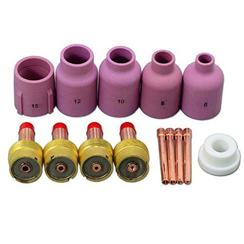 TIG PTA DB SR WP 17 18 26 Large Diameter Alumin Nozzle Gas Lens Collet Bodies 14pcs