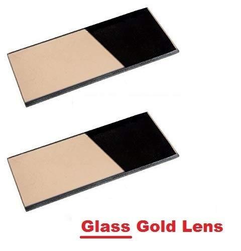 2 EACH Shade 11 Glass GOLD 2 x 425 Welding Hood Lens Helmet Filter 2 x 4-14 Replacement