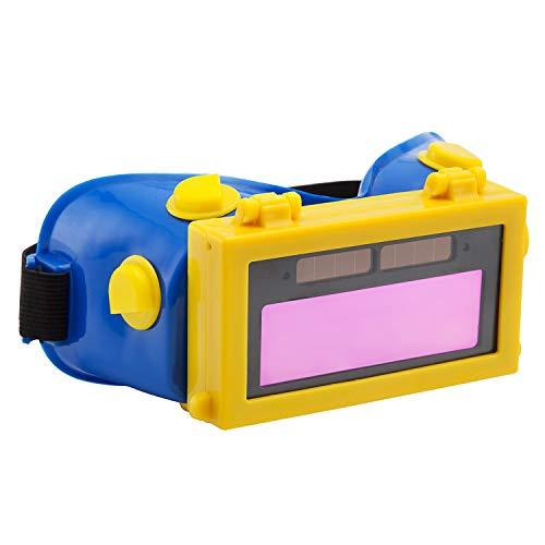Holulo Auto Darkening Welding Goggles with Clear Inner Lenses Welding Helmet Solar Welder Eyes Glasses Flip Up Lens Eye Protection Blue