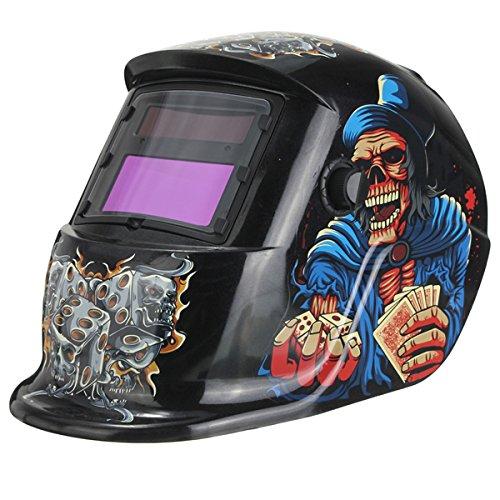 Gamble Skull Solar Auto Darkening Arc Tig Mig Welding Grinding Helmet Welder Mask