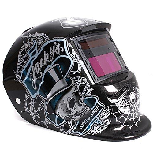 Lucky Skull Auto Darkening Solar Welding Grinding Helmet Arc TIG MIG Welder Mask