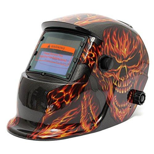 Skull Fire Solar Auto Darkening Welding Grinding Helmet Welder