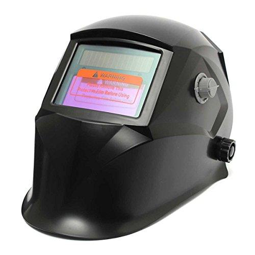 Black Solar Welder Mask Electrowelding Auto-Darkening Welding Helmet