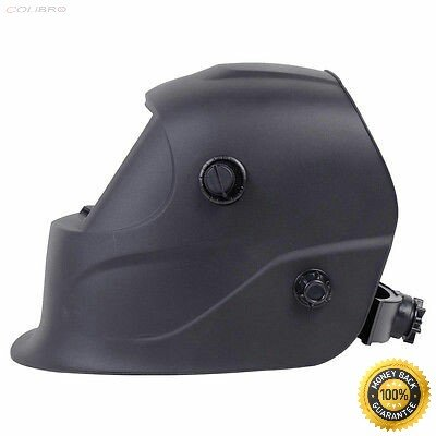 COLIBROX--Pro Solar Welder Mask Auto-Darkening Welding Helmet Arc Tig mig grinding Black Powered Auto-Darkening Arc Tig Welding Helmet Welder Grinding Skull