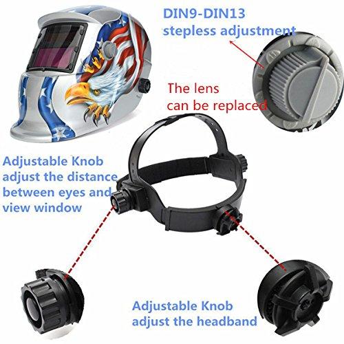 Eagle Solar Welder Mask Electric Welding Auto Darkening Welding Helmet