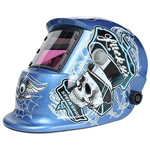 Solar Welder Mask Auto-Darkening Welding Helmet Arc Tig Mig Grinding Spider Web