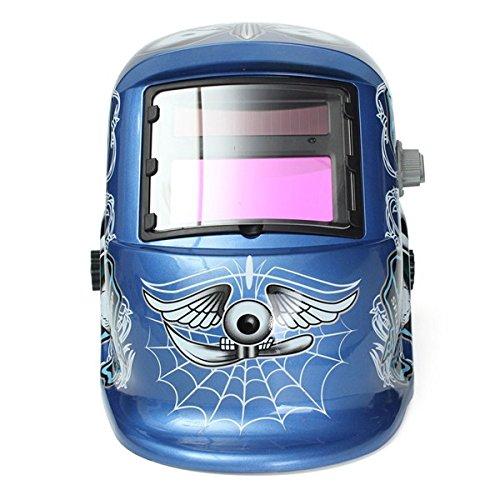 Solar Welder Mask Auto Darkening Welding Helmet Arc Tig Mig Grinding Spider Web Pattern