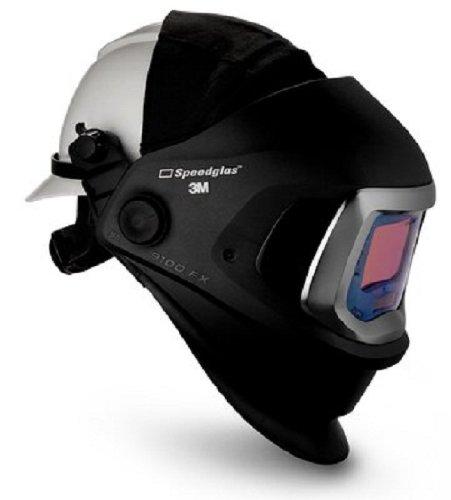 3M 06-0600-20HHSW Speedglas 9100 FX Welding Helmet Welding Safety with Hard Hat SideWindows and 9100X Auto-Darkening Filter and Shades 5