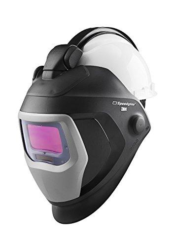 3M Speedglas Quick Release Welding Helmet 9100 QR with Large Size Auto-Darkening Filter 9100X and Hardhat H-701R 06-0100-20QR Adjustable Black
