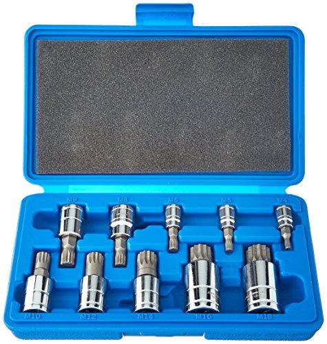 Cal Hawk Tools BSSB10P 10 Piece Spline Bit Socket Set