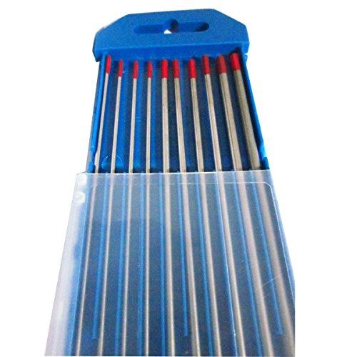 10pcs WT20 2 Thoriated Tungsten Electrode Kit Size 16mm 24mm 32mm175mm 116 332 18 7 for DC TIG Welding Welder Machine