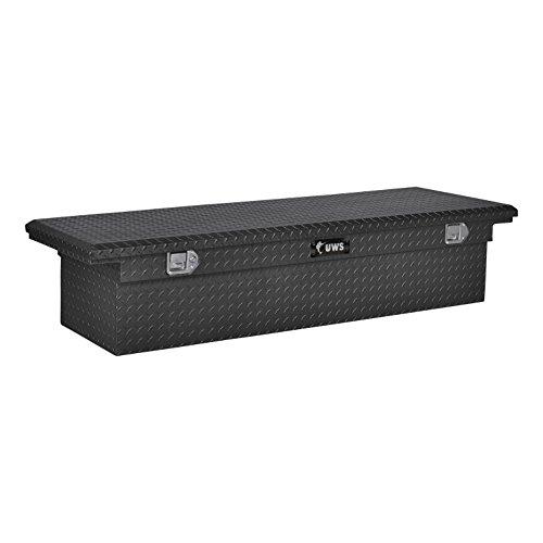UWS EC10473 69-Inch Matte Black Heavy-Wall Aluminum Truck Tool Box with Low Profile RigidCore Lid
