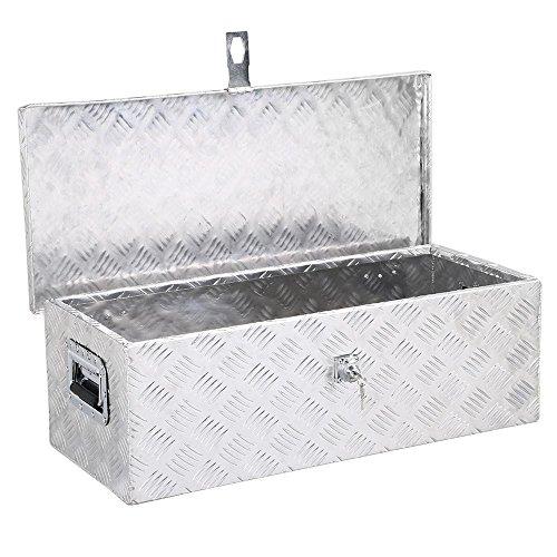 Yaheetech 30 x 13 inch Heavy Duty Aluminum Tool Box Pickup Truck Bed Storage wLock Silver