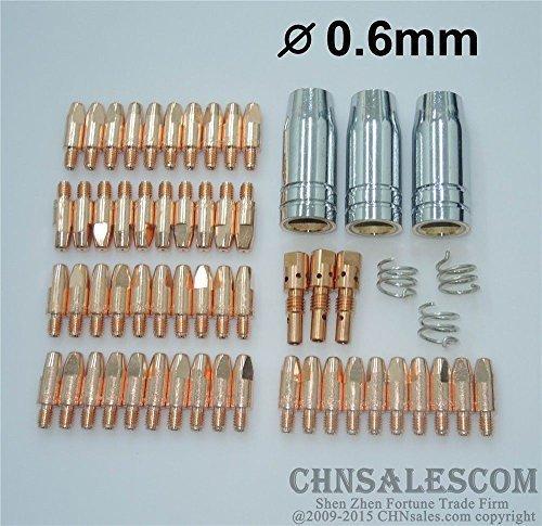 CHNsalescom 59 PCS MB 25AK MIGMAG Welding Gun Contact Tip 06X28 Gas Nozzle Tip Holder