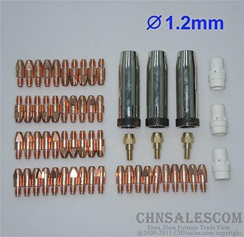 CHNsalescom 59 PCS MB 36KD MIGMAG Welding Air cooled Gun Contact Tip 12x30 M8 Gas Nozzle