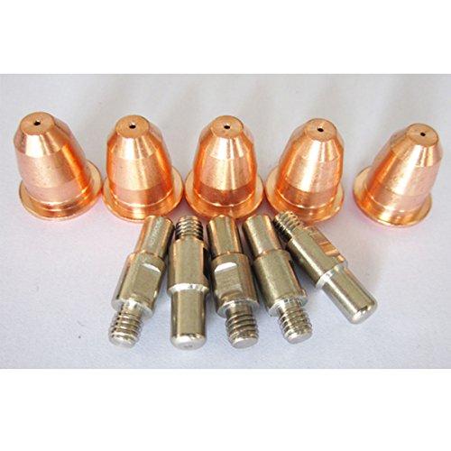Warrior 10pcs Consumables Kit Electrodes Nozzles For Longevity Tranfimet Air Cooled Plasma Cutting Torch S45