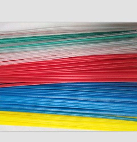 50PCS YellowRedGreenBlueTransparent PP plastic welding rods PP welder rods for hot air gun 1pc25cm length