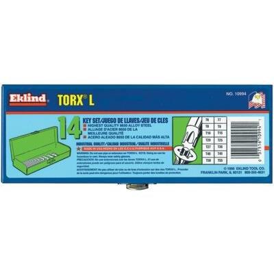 EKLIND 10994 TORX star L-Key - 14pc set T6-T55 Long series w metal box