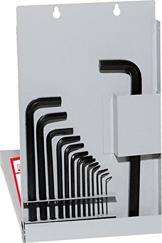 EKLIND 13216 Ball-Hex-L Key allen wrench - 16pc set SAE Inch Sizes 050-58 Long w metal box