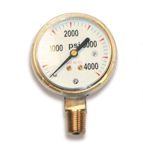 US Forge 08030 Victor Style High Pressure Gauge for Oxygen Regulators 0-4000 PSI