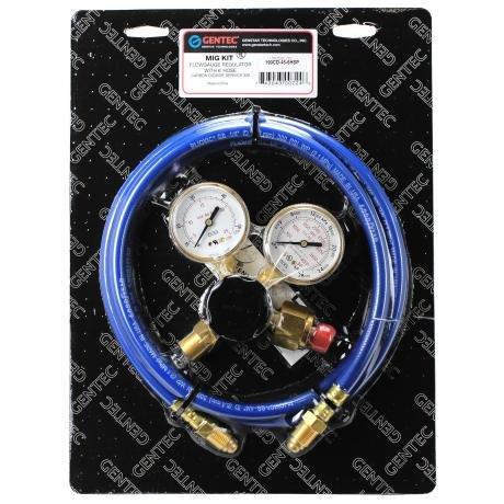 191CD-60-6HSP GENTEC CO2 MIG TIG Flowmeter Regulator Kit