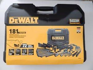 dewalt 181 mechanics tool set black chrome