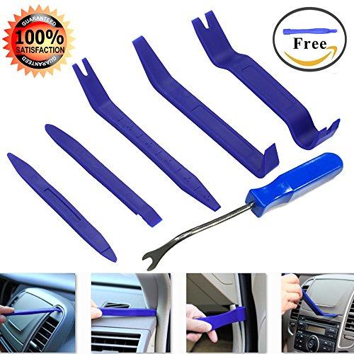 Geli Auto Trim Removal Tool Kit Set of 7 Pcs Auto Door Clip Panel Trim Removal Tool Kits for Car Dash Radio Audio Installer Pry Tool