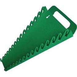 SK Hand Tool 1074 15 Slot SureGrip Combination Wrench Rack Green