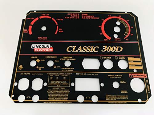 Lincoln Electric Arc Welder Pipeliner Classic 300D Aluminum Control Plate L-10849