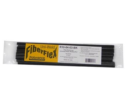 FiberFlex Plastic Welding Rod Flat Ribbon 30 ft Black