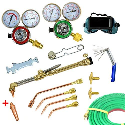 Yaufey Professional Oxygen Acetylene Torch Kit Gas Welding Cutting Welder Precision Brazing Soldering Tool Set
