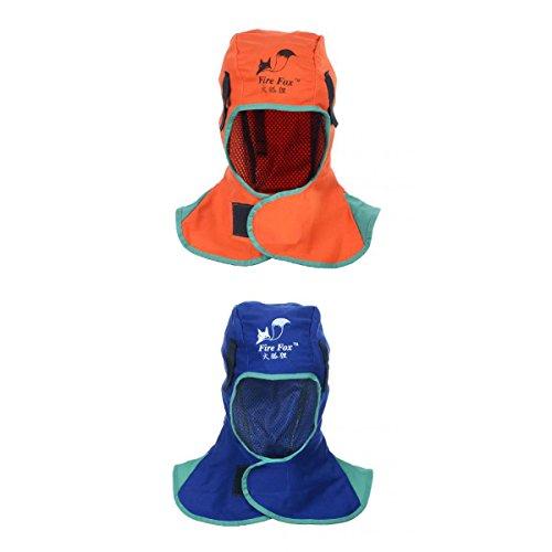 MagiDeal 2 Piece Flame Retardant Safey Helmet Welding Neck Protective Hood Head Cover