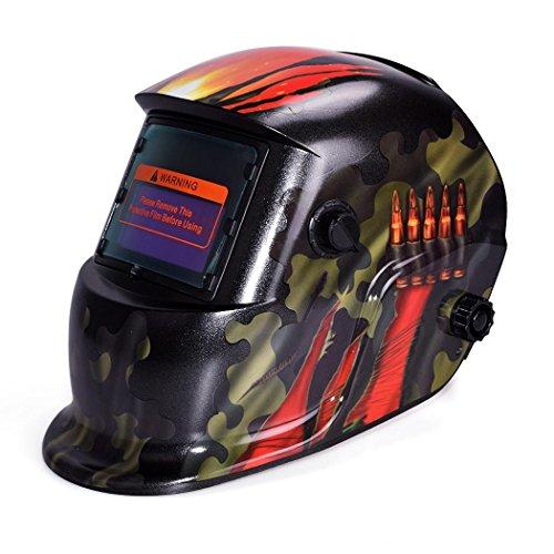 Pagacat Auto Darkening Welding Helmet Battery Solar Powered Shade Welding Hood with Adjustable ShadeUS Stock