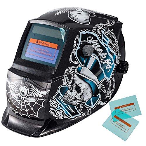iMeshbean Solar Powered Auto Darkening Welding Hood Helmet Mask CE ANSI Approved Different Styles USA Seller Lucky Skull