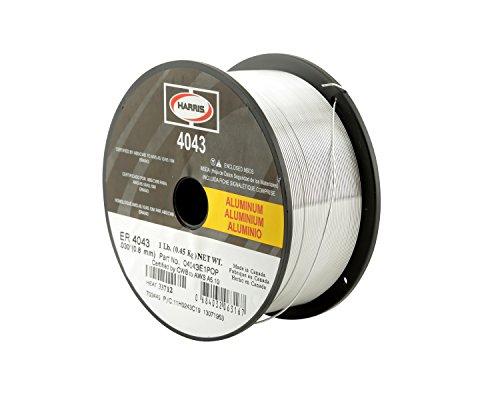 Harris 0404321 4043 Aluminum MIG Welding Wire 364 x 1 lb Spool 20 lb Cartons