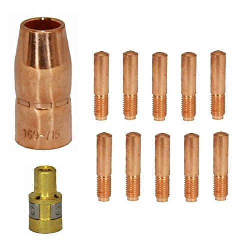Kit 12pk compatible Hobart 770404 770177 770402 030 for M1015 Miller Mig Torch 169716 000067 169715