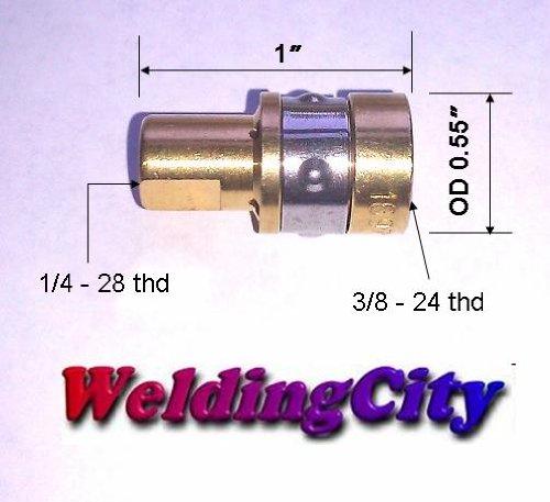 WeldingCity 2-pk Gas Diffusers 169-716 169716 for Miller Hobart MIG Welding Guns
