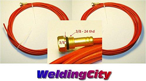 WeldingCity 2-pk Teflon Wire Liner 194T-014 364 15-ft for Miller Millermatic and Hobart H-9H-10 MIG Welding Guns
