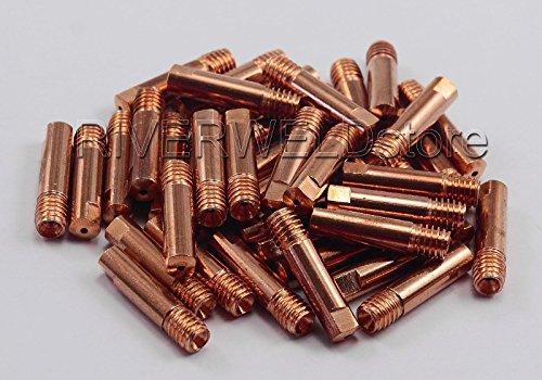 15AK MB15 MAGMIG Welding Torch Contact Tip Φ09 M6x25mm 50PK